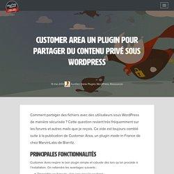 Customer Area un plugin pour partager du contenu privé sous WordPress