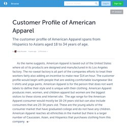 Customer Profile of American Apparel