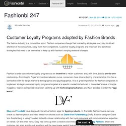 Customer Loyalty Programs adopted by Fashion Brands