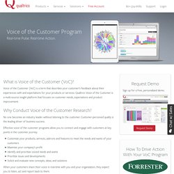 Voice of Customer Programs