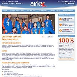 Customer Services Representative at Airkix