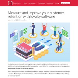 Measure and improve your customer retention with loyalty software - Loyera