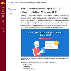 How Do Customer Reviews Impact Local SEO?: Home: Blog