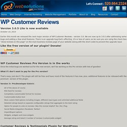 WP Customer Reviews - Go Web Solutions Go Web Solutions