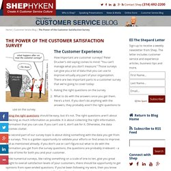 The Power of the Customer Satisfaction Survey