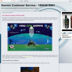 Garmin Customer Service - 18004978891: Get Best Garmin GPS Guide