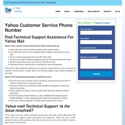 Yahoo Mail Customer Care Service Support Phone Number-247helpnumber