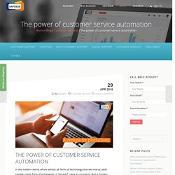 The power of customer service automation - kapdesk