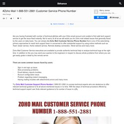 #Zoho Mail 1-888-551-2881 Customer Service Phone Number on Behance