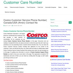 Costco Customer Service Phone Number