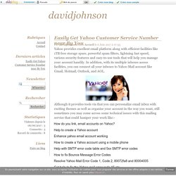 Easily Get Yahoo Customer Service Number near By You - davidjohnson