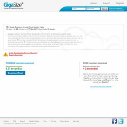 Google Customer Service Phone Number 1.pptx - GigaSize.com: Host and Share your files