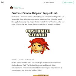Customer Service Help and Support Hub