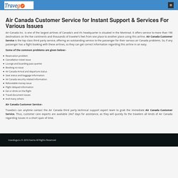 Air Canada Customer Service & support helpline Number