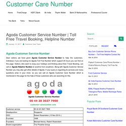 Agoda Customer Service Number