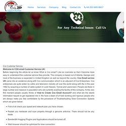 Cox Customer Service Helpline Phone Number UK