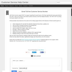 Customer Service Help Center: Gmail Toll free Customer Service Number