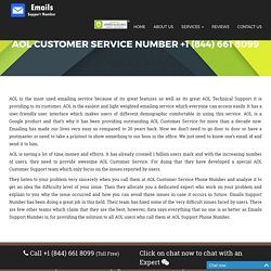AOL Customer Service Number {+1 (844) 661 8099} AOL Help Phone Number