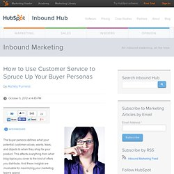 How to Use Customer Service to Spruce Up Your Buyer Personas