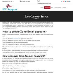 Zoho Customer Service Phone Number - 1-888-269-0130