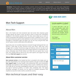 MSN Customer Service, MSN Tech Support Phone Number