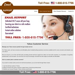 1-800-615-7796 yahoo customer service customer support number