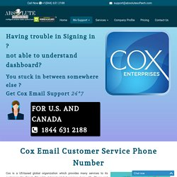 Cox Customer Service Number {1844-631-2188} Cox Mail Tech Support