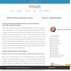 Belkin Router Customer Service