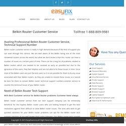 Belkin Router Customer Service