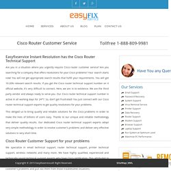 Cisco Router Customer Service