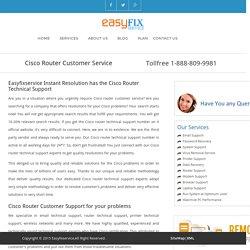 Cisco Router Customer Service