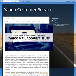 Dial Technical Support Number to Prevent Yahoo Mail Account Issues
