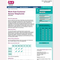 Work Club Customer Service Telephonist - Do-it