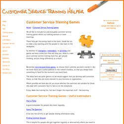 customer service training games,