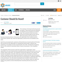 Customer Should Be Heard!