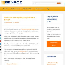 Customer Journey Mapping Software Tool Comparison