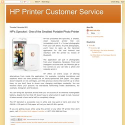 HP Printer Customer Service: HP's Sprocket : One of the Smallest Portable Photo Printer