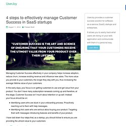 4 Steps To Manage Customer Success In SaaS Startups