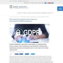SAP Cloud for Customer & Your Way to a Successful EU GDPR Compliance