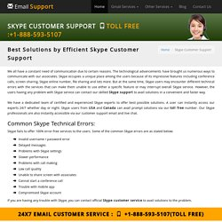 Skype Customer Support