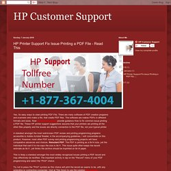 HP Printer Support Fix Issue Printing a PDF File - Read This