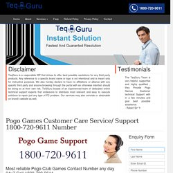 Pogo Games Customer Support/Service/Help 1-844-745-1521 Number