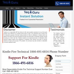 Kindle Customer Care Support 1-844-745-1521 Service/Help Number