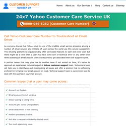 Yahoo Customer Care UK 0800-046-5262 Support Service Number