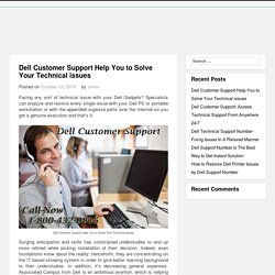 Dell Customer Support Help You to Solve Your Technical issues