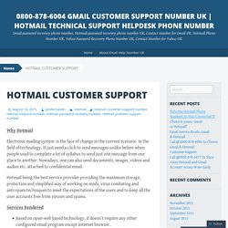 Hotmail Technical Support Helpdesk Phone Number