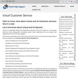 Icloud Customer Service Helpline Number
