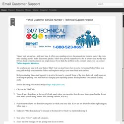 Email Customer Support: Yahoo Customer Service Number